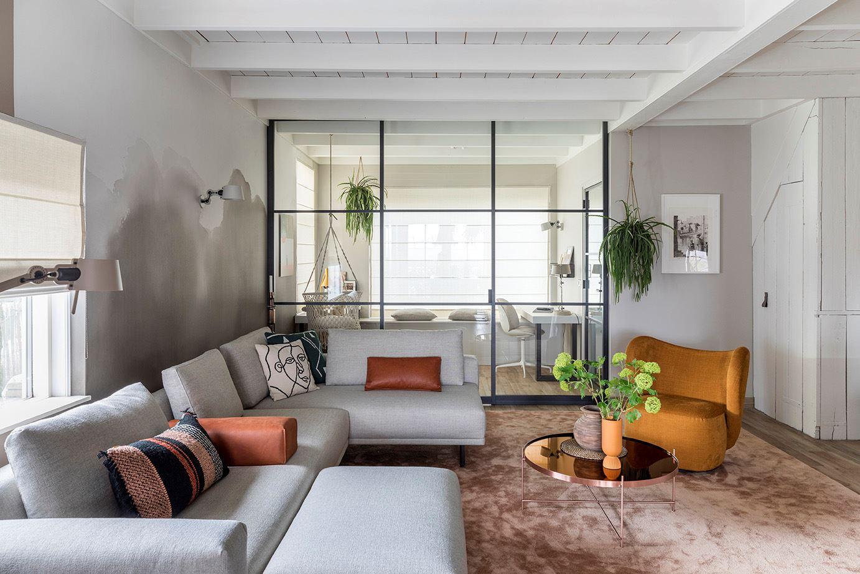 Livingroom inspiration with watercolour or aquerel wallpaper